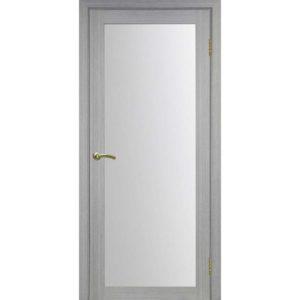 Межкомнатная дверь Optima Porte Турин 501.2 (дуб серый, остеклённая)