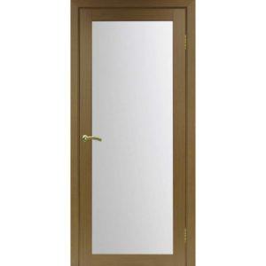 Межкомнатная дверь Optima Porte Турин 501.2 (орех, остеклённая)
