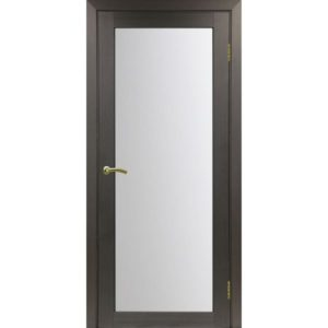 Межкомнатная дверь Optima Porte Турин 501.2 (венге, остеклённая)
