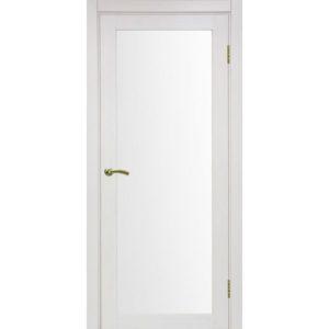 Межкомнатная дверь Optima Porte Турин 501.2 (ясень перламутровый, остеклённая)