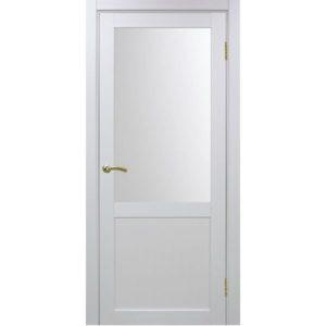 Межкомнатная дверь Optima Porte Турин 502.21 (белый монохром, остеклённая)