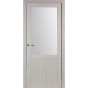 Межкомнатная дверь Optima Porte Турин 502.21 (дуб белёный, остеклённая)