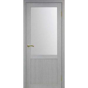 Межкомнатная дверь Optima Porte Турин 502.21 (дуб серый, остеклённая)