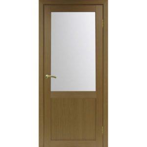 Межкомнатная дверь Optima Porte Турин 502.21 (орех, остеклённая)