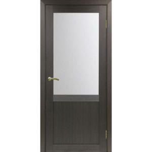 Межкомнатная дверь Optima Porte Турин 502.21 (венге, остеклённая)