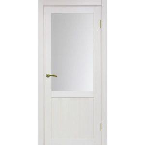 Межкомнатная дверь Optima Porte Турин 502.21 (ясень перламутровый, остеклённая)