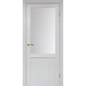 Межкомнатная дверь Optima Porte Турин 502.21 (ясень серебристый, остеклённая)