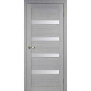 Межкомнатная дверь Optima Porte Турин 505 (АПС молдинг SC, дуб серый, остеклённая)