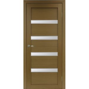 Межкомнатная дверь Optima Porte Турин 505 (АПС молдинг SC, орех, остеклённая)