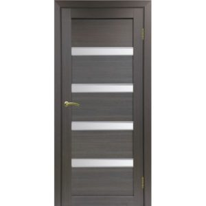 Межкомнатная дверь Optima Porte Турин 505 (АПС молдинг SC, венге, остеклённая)