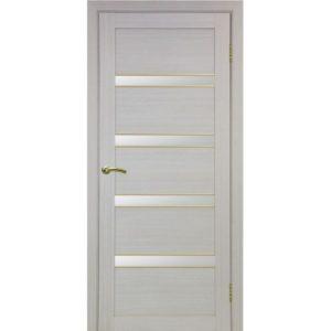 Межкомнатная дверь Optima Porte Турин 505 (АПС молдинг SG, дуб белёный, остеклённая)