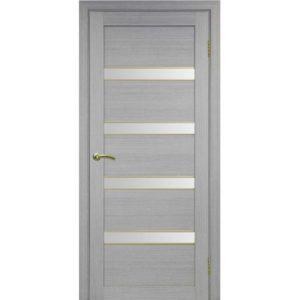 Межкомнатная дверь Optima Porte Турин 505 (АПС молдинг SG, дуб серый, остеклённая)