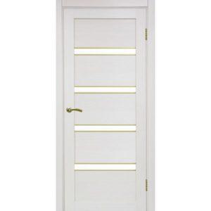 Межкомнатная дверь Optima Porte Турин 505 (АПС молдинг SG, ясень перламутровый, остеклённая)