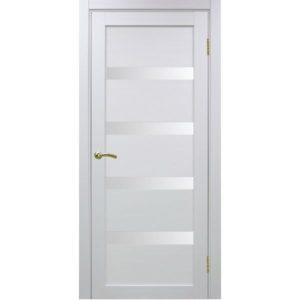 Межкомнатная дверь Optima Porte Турин 505 (белый монохром, остеклённая)
