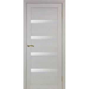 Межкомнатная дверь Optima Porte Турин 505 (дуб белёный, остеклённая)