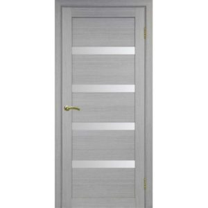 Межкомнатная дверь Optima Porte Турин 505 (дуб серый, остеклённая)