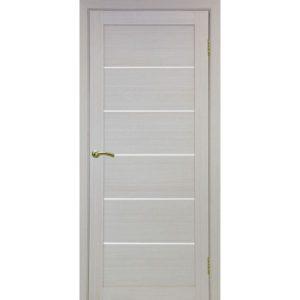 Межкомнатная дверь Optima Porte Турин 506 (дуб белёный, остеклённая)