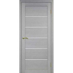 Межкомнатная дверь Optima Porte Турин 506 (дуб серый, остеклённая)