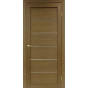 Межкомнатная дверь Optima Porte Турин 506 (орех, остеклённая)