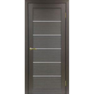Межкомнатная дверь Optima Porte Турин 506 (венге, остеклённая)