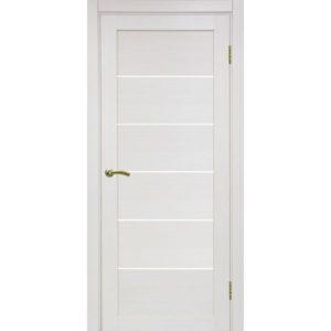 Межкомнатная дверь Optima Porte Турин 506 (ясень перламутровый, остеклённая)