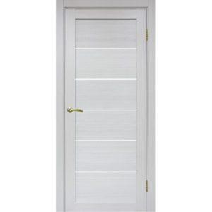 Межкомнатная дверь Optima Porte Турин 506 (ясень серебристый, остеклённая)