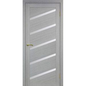 Межкомнатная дверь Optima Porte Турин 506U (дуб серый, остеклённая)