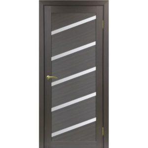 Межкомнатная дверь Optima Porte Турин 506U (венге, остеклённая)