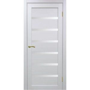 Межкомнатная дверь Optima Porte Турин 507 (белый монохром, остеклённая)