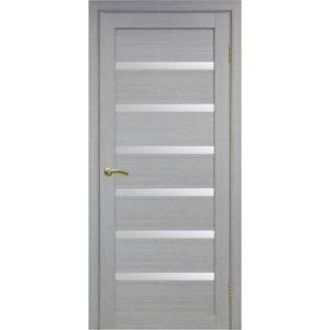 Межкомнатная дверь Optima Porte Турин 507 (дуб серый, остеклённая)