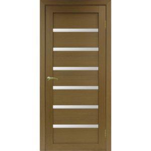 Межкомнатная дверь Optima Porte Турин 507 (орех, остеклённая)