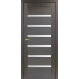 Межкомнатная дверь Optima Porte Турин 507 (венге, остеклённая)