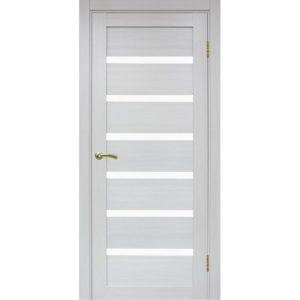 Межкомнатная дверь Optima Porte Турин 507 (ясень серебристый, остеклённая)