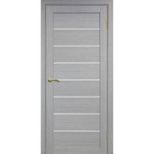 Межкомнатная дверь Optima Porte Турин 508 (дуб серый, остеклённая)