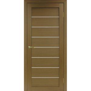 Межкомнатная дверь Optima Porte Турин 508 (орех, остеклённая)