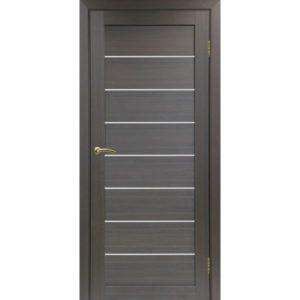 Межкомнатная дверь Optima Porte Турин 508 (венге, остеклённая)