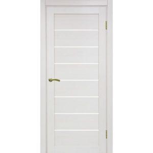 Межкомнатная дверь Optima Porte Турин 508 (ясень перламутровый, остеклённая)