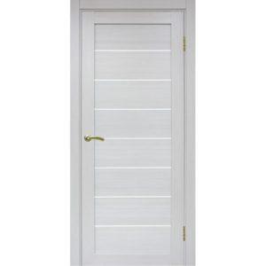Межкомнатная дверь Optima Porte Турин 508 (ясень серебристый, остеклённая)