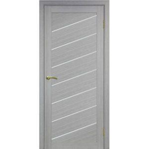 Межкомнатная дверь Optima Porte Турин 508U (дуб серый, остеклённая)