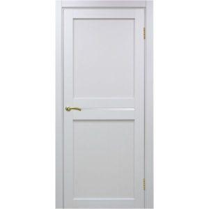 Межкомнатная дверь Optima Porte Турин 520.121 (белый монохром, остеклённая)