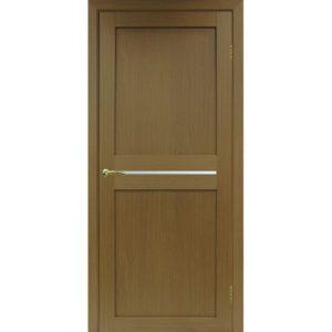 Межкомнатная дверь Optima Porte Турин 520.121 (орех, остеклённая)
