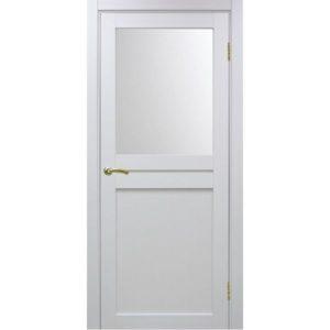 Межкомнатная дверь Optima Porte Турин 520.211 (белый монохром, остеклённая)