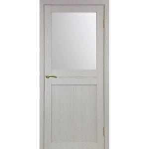 Межкомнатная дверь Optima Porte Турин 520.211 (дуб белёный, остеклённая)