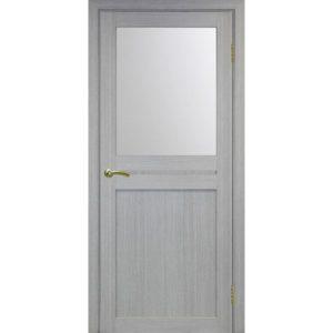 Межкомнатная дверь Optima Porte Турин 520.211 (дуб серый, остеклённая)