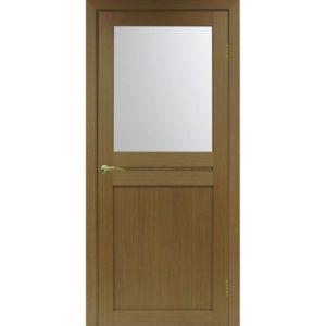 Межкомнатная дверь Optima Porte Турин 520.211 (орех, остеклённая)