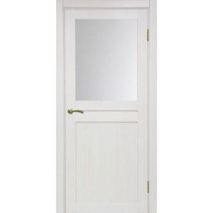 Межкомнатная дверь Optima Porte Турин 520.211 (ясень перламутровый, остеклённая)