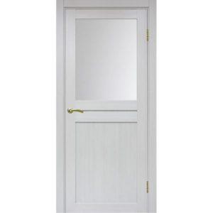 Межкомнатная дверь Optima Porte Турин 520.211 (ясень серебристый, остеклённая)