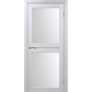 Межкомнатная дверь Optima Porte Турин 520.212 (белый монохром, остеклённая)