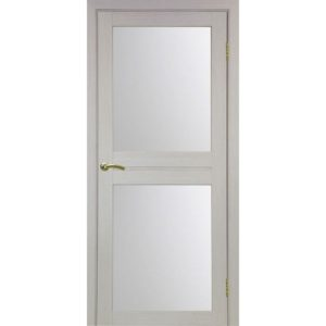 Межкомнатная дверь Optima Porte Турин 520.212 (дуб белёный, остеклённая)