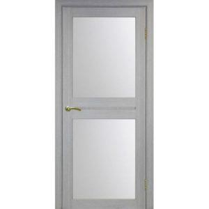 Межкомнатная дверь Optima Porte Турин 520.212 (дуб серый, остеклённая)